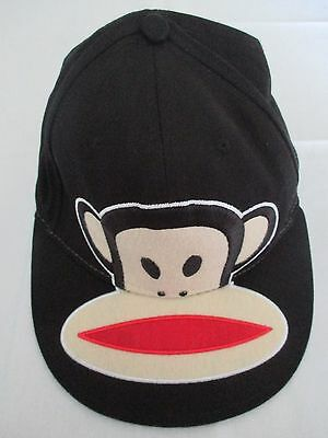 Paul Frank Julius The Monkey Black Fitted Large Baseball Golf Cap Hat