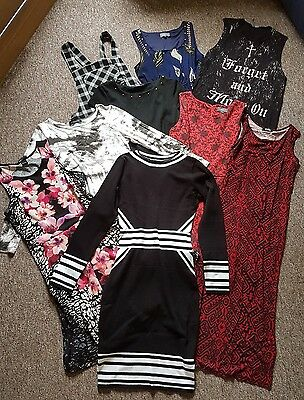 Bundle/Job Lot x 9 Ladies Clothes/dresses Size 10. H&M/Apricot/Primark/George
