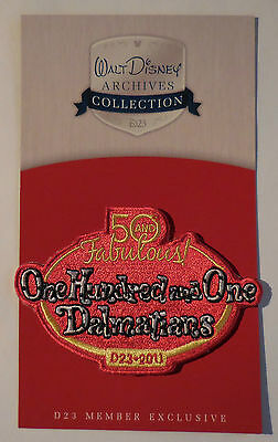 Disney D23-2011 Collection 50 Fabulous One Hundred & One Dalmatians Patch New