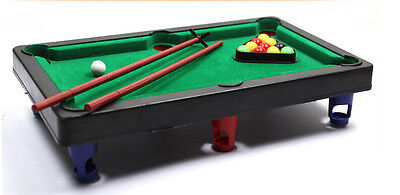 Kids Toy Mini Table Top Snooker Pool Play Set Desktop Stocking Filler