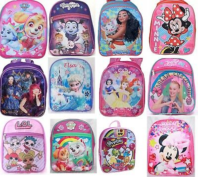 Little Girls Toddler PreK School Backpack Movie Cartoon Book Bag Kids Children