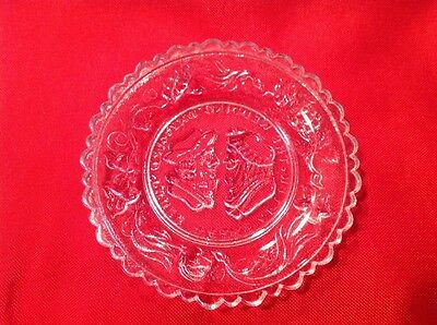 Mini Glass Lacy Cup Plate Coaster The Wedding Day And Three Weeks After