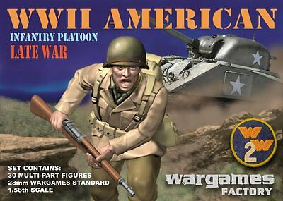 Wargames Factory - World War II US American Infantry Platoon (30) (28mm)