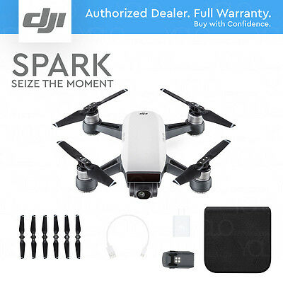 DJI SPARK - Alpine White. 12MP Camera, 1080p Video, 2-Axis Gimbal, Active Track