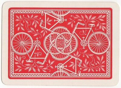 Playing Cards 1 Single Swap Card Old Antique Wide BICYCLE BIKE Cycling Riding 2