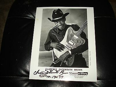 """Clarence""""Gatemouth"""" Brown signed photo"""
