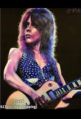 RANDY RHOADS Artwork Painting Water Color Hand Crafted Drawing One Of A Kind