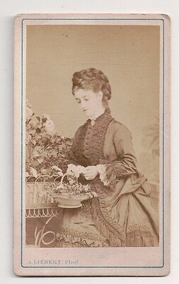 Vintage CDV Adelina Patti opera singer A. Liebert Photo Paris