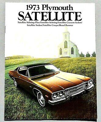 Original 1973 Plymouth Satellite First Edition Brochure ~ 20 Pages ~ Ps73