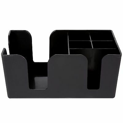 Plastic Bar Caddy Organizer with 6 Compartments, Free Shipping