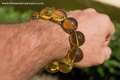 BAP975 Dominican Amber Bracelet Top Quality 64.1g