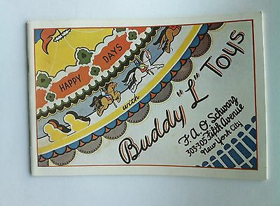 """1929 BUDDY"""" L"""" TOYS  CATALOG  colorful 34 pages- EXCELLENT REFERENCE"""