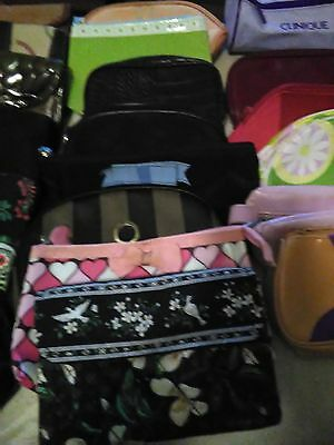 Lot Of 27 Misc Cosmetic Makeup Bags And Wallets