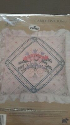 Candlewicking cushion embroidery kit