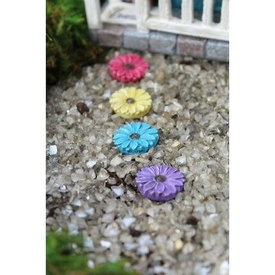 Fairy Garden Mini - Colorful Flower Stepping Stones - Set of 4