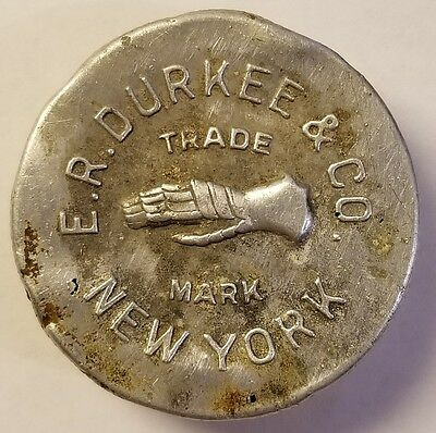 E.R. DURKEE & CO. NEW YORK CLEAR  LID FOR BOTTLE vintage