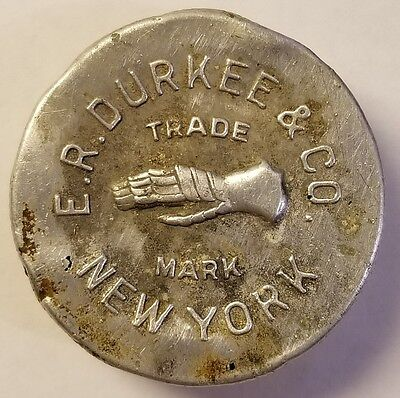E.R. DURKEE & CO. NEW YORK METAL LID FOR BOTTLE vintage