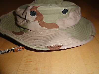 Us Army Desert Storm 3-Color Camo Boonie Hut Hat Cap Mütze Uniform 1991 Xs/small
