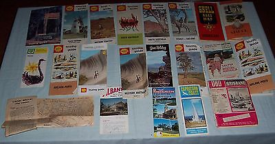 Early Assorted  Australian  Road Maps  Shell  BP Caltex Road Map Touring Guides