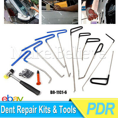 10PCS PDR Tool - Paintless Dent Repair Removal Auto Body Rod Tools Kit Hot
