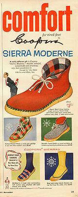 1947 vintage AD, Cooper's 'Sierra Moderne' Lounge Shoes and Slippers -111413