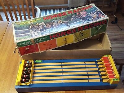 Vintage Shinsei Battery Operated Horse Racing Game Made in Japan #03-2861..WORKS