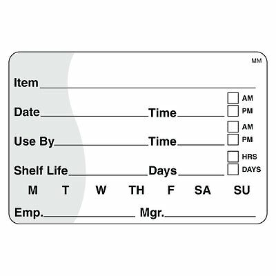 """DayMark IT110342 MoveMark Shelf Life/Use By Removable Label, 2"""" x 3"""" Roll of 50"""