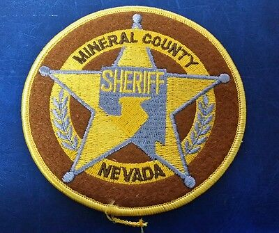Mineral County, Nevada Sheriff Police Shoulder Patch Nv