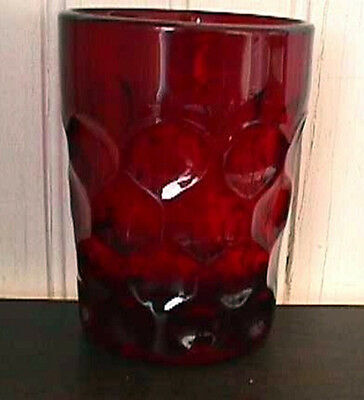 "*imperial Glass-Heisey Provincial Mold (1) Ruby 4"" Tumbler #4-B13-R"
