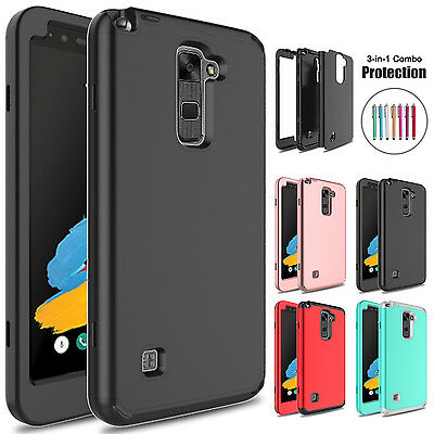 Shockproof Hybrid Rugged Rubber Hard Slim Phone Case Cover For LG G Stylo 2/2 V