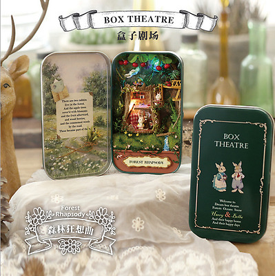 DIY Dollhouse Miniature 3D Doll House Box Theatre Kid Toy Gift Forest Rhapsody