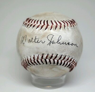 Walter Johnson Autographed Replica/Novelty 1910 Style Baseball