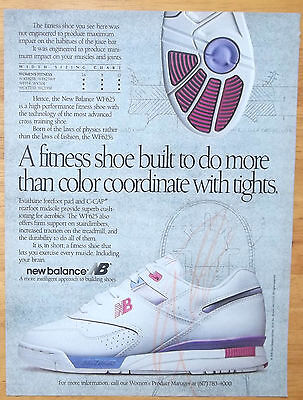 1991 New Balance Sneakers Fitness Workout Shoes Vintage Magazine Print Ad