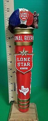 Lone Star Beer Armadillo Tap Handle Texas New