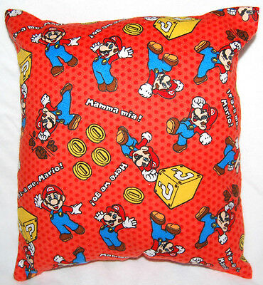New Print Handmade Super Mario It's Me, Mario! Travel/ Toddler Pillow
