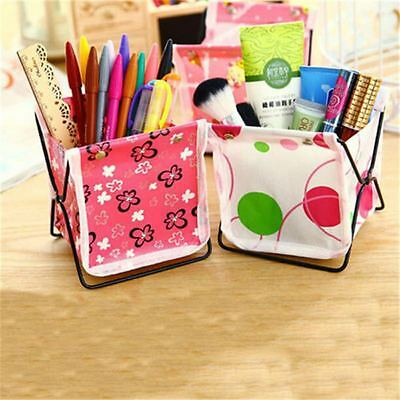 Foldable Cute Desk Storage Jewerly Stationery Makeup Organizer Home Office Decor