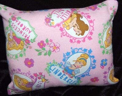 New Disney Mini Handmade Princess Rapunzel Cinderella Belle Auror Flannel Pillow