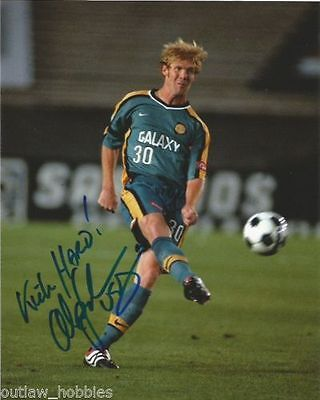 Los Angeles Galaxy Alexi Lalas Autographed Signed 8x10 Photo COA