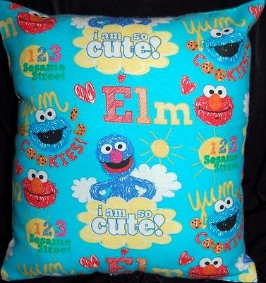 New Handmade Sesame Street Elmo I Am So Cute Travel / Toddler Flannel Pillow