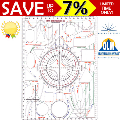 Mathomat Senior Template Aid Geometry Stencil Technical Approved Mathematics