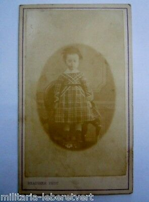 Photo Cdv Bebe Petite Fille  Paris Beaudier  Original