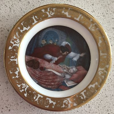 Franklin Mint Best loved Fairytales Miniature Plates Set Of 50 with display rack