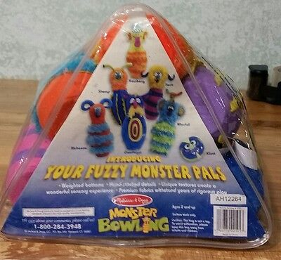 Melissa & Doug Monster Plush Bowling Game Toddler Toy