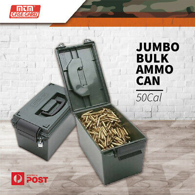 Mtm Jumbo 50cal Ammo Box Water-resistant Lockable Ammunition Dry Tool Ammo Can