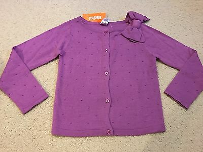 Gymboree Girls Bow Knit Sweater Cardigan  Size M 7 8   NEW