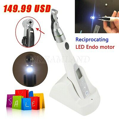 Dental LED Lamp Wireless Endo Motor Treatment 16:1 Reduction Contra Handpiece US