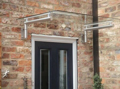 Luxury Stainless Steel + Real Glass Canopy Porch - Door Shelter /  Balcony