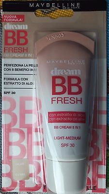MAYBELLINE BB CREAM DREAM FRESH light-medium spf 30 per tutti i tipi di pelle