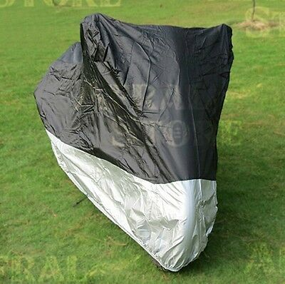 Motorcycle Waterproof L Outdoor Vented Motor Bike Scooter Dust Rain Cover AU