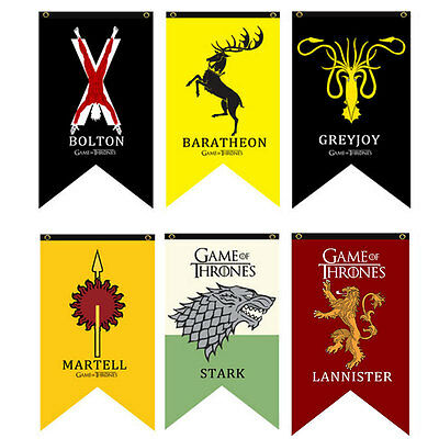 Game Of Thrones1 House Tournament Welcome Garden Patio Decor Flag Poster Toy